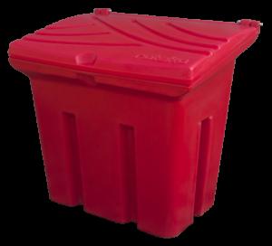 Pojemnik na piasek i sól 160L czerwony