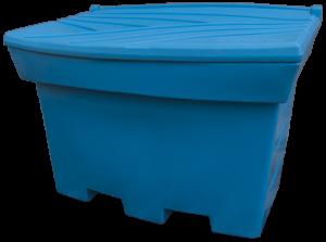 Pojemnik na piasek i sól 400L niebieski