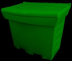 Pojemnik na piasek i sól 500L zielony