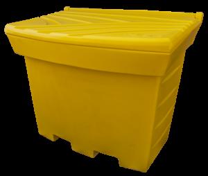 Pojemnik na piasek i sól 500L żółty