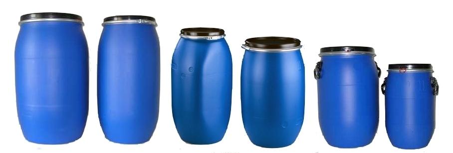 Beczki plastikowe z deklem UN 30-220 litrów